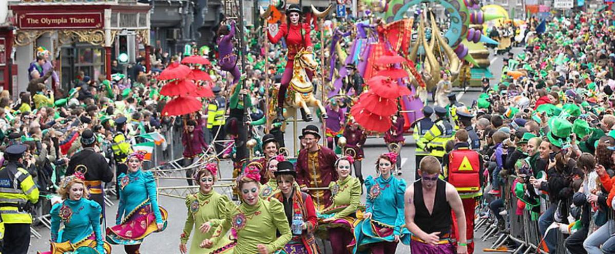 La parade de la Saint Patrick en 2011. AFP PHOTO/Peter Muhly