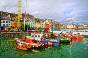 Ireland-Cobh Town Harbour