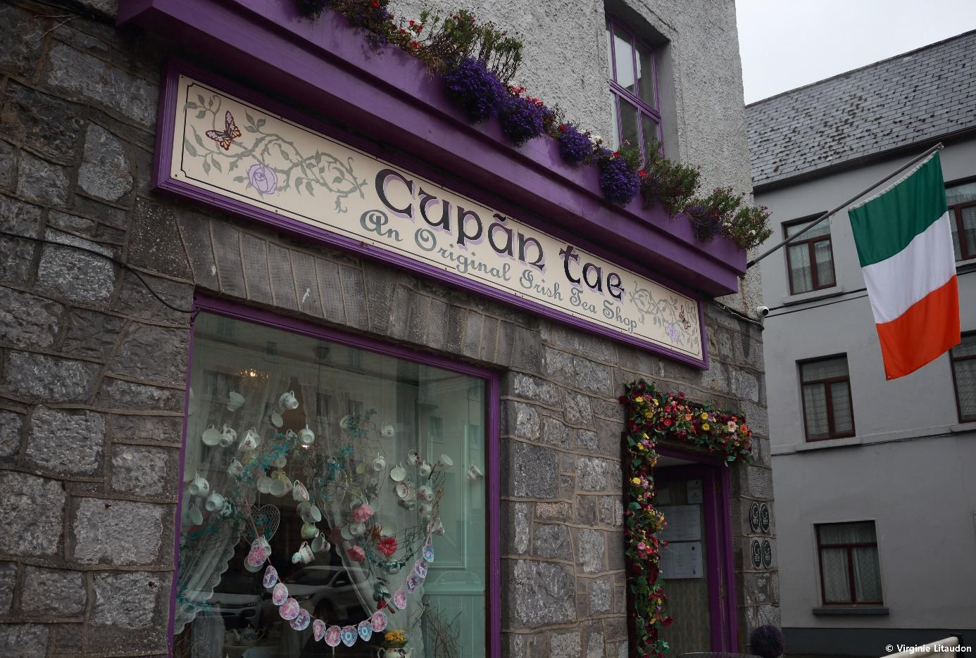 Crédit photo : Virginie Litaudon, Le salon de thé Cupan tae à Galway