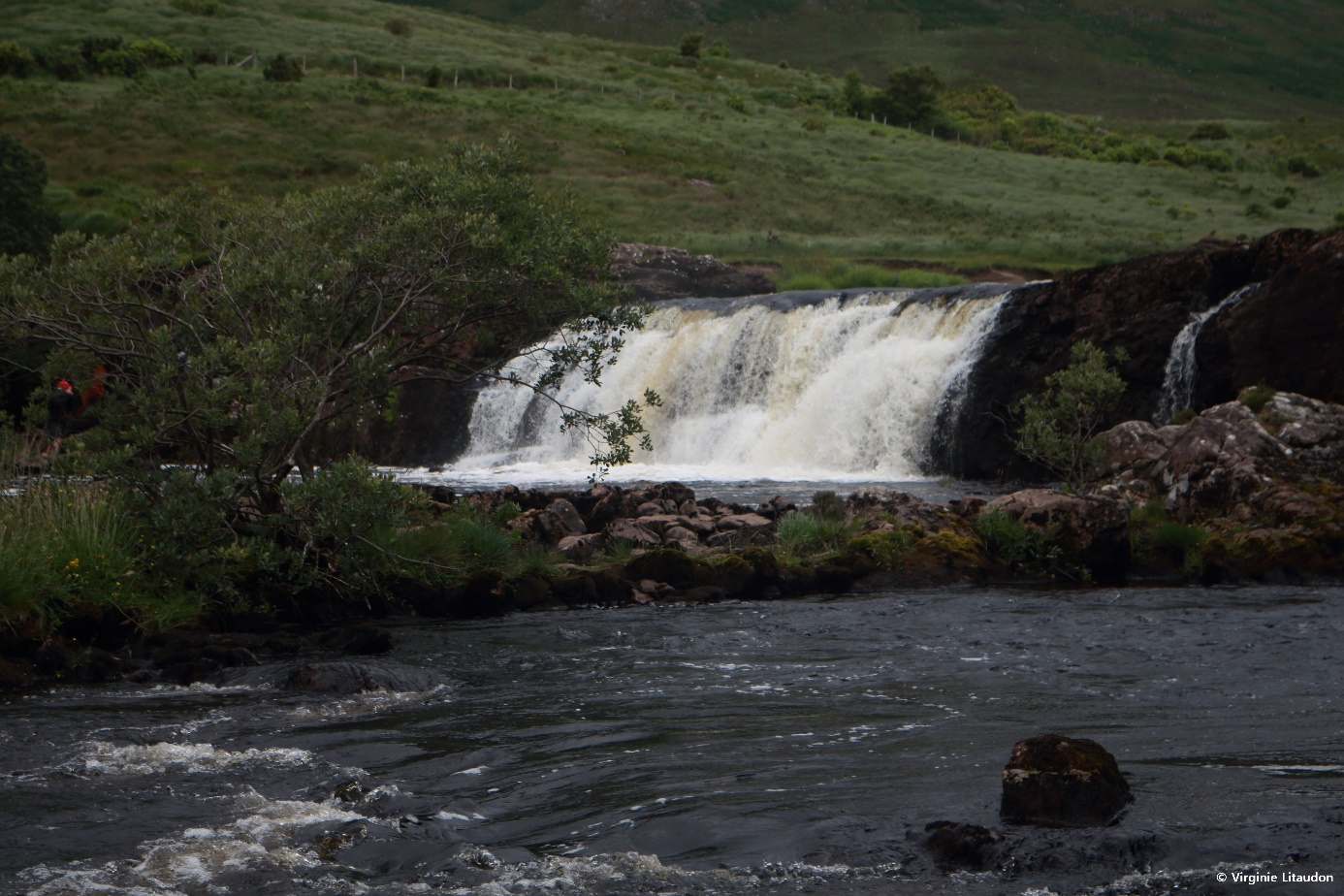 Crédit photo : Virginie Litaudon, Les Aasleagh Falls à 40 min de Leenaun à pied