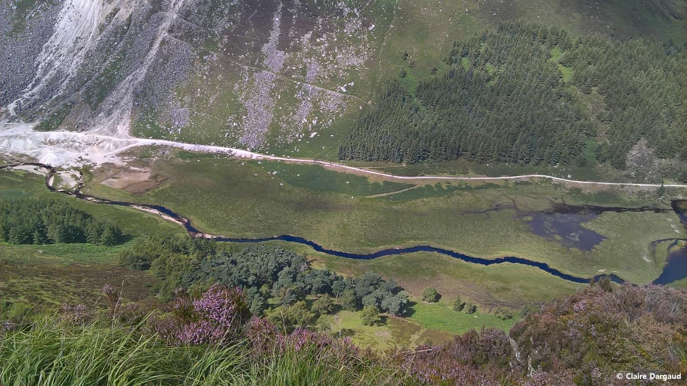 Crédit photo : Claire Dargaud, Vue vertigineuse depuis la route bleue